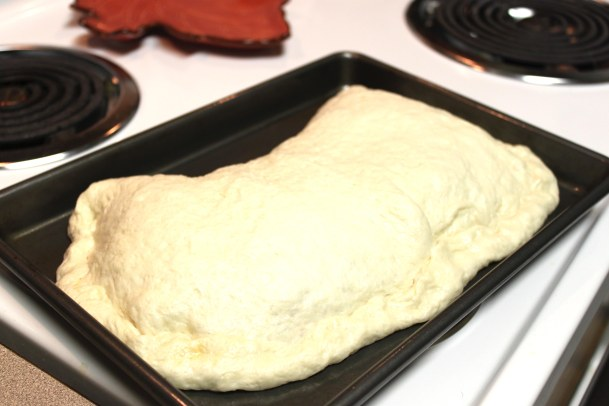 Crust that has been brushed by egg white