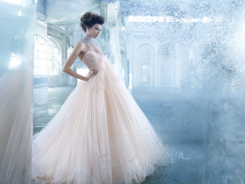 Pink Wedding Gown: Bridal Trend I'm Loving In 2013: Pale Pink Wedding Gowns