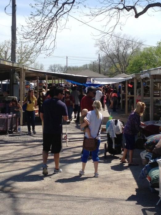flea market patrons