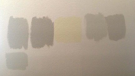 2 different paints. With different percentages tried at 100%, 75%, 60% & 50%. If you love a color but its just to dark, try a lower concentrated version by switching the total amount.