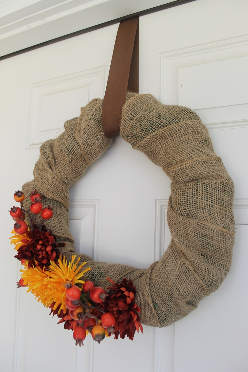 Diy Burlap Wreath Mrs And The Misc