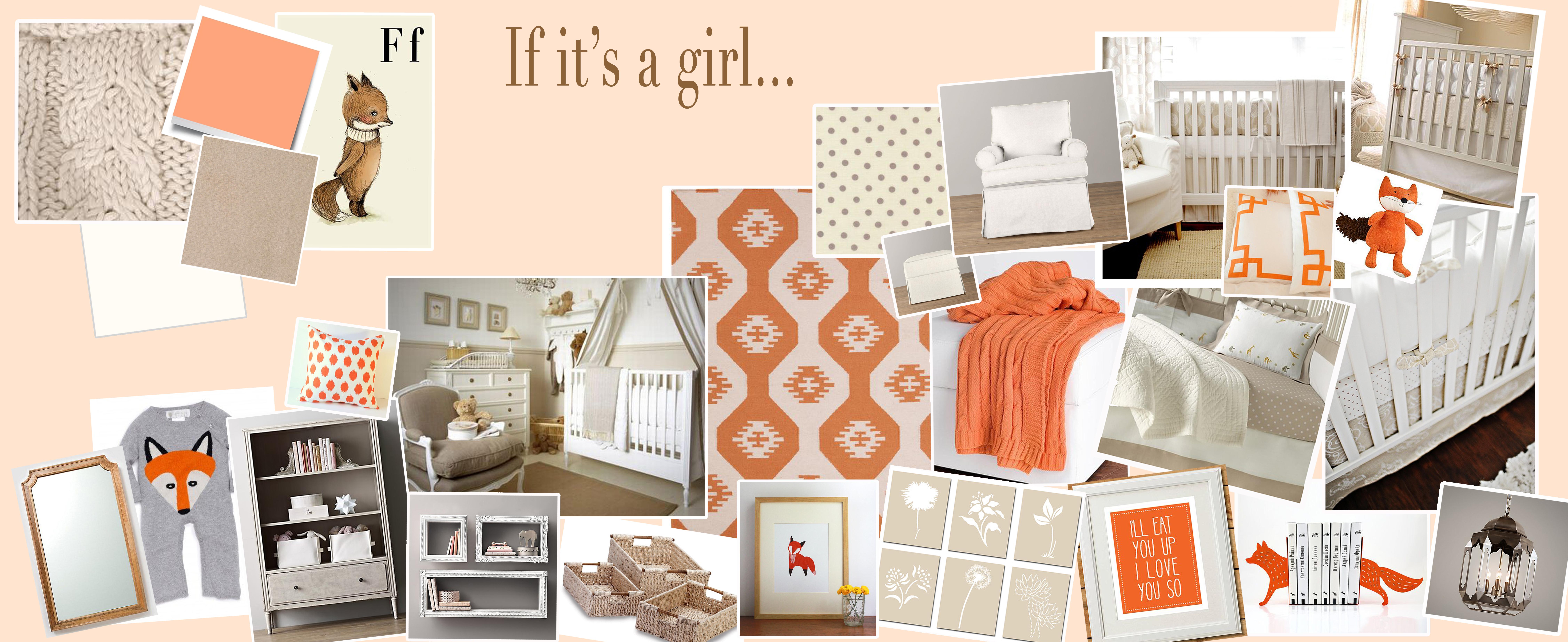 The Nest Revealed Peach Amp Gray Fox Nursery For Our Baby