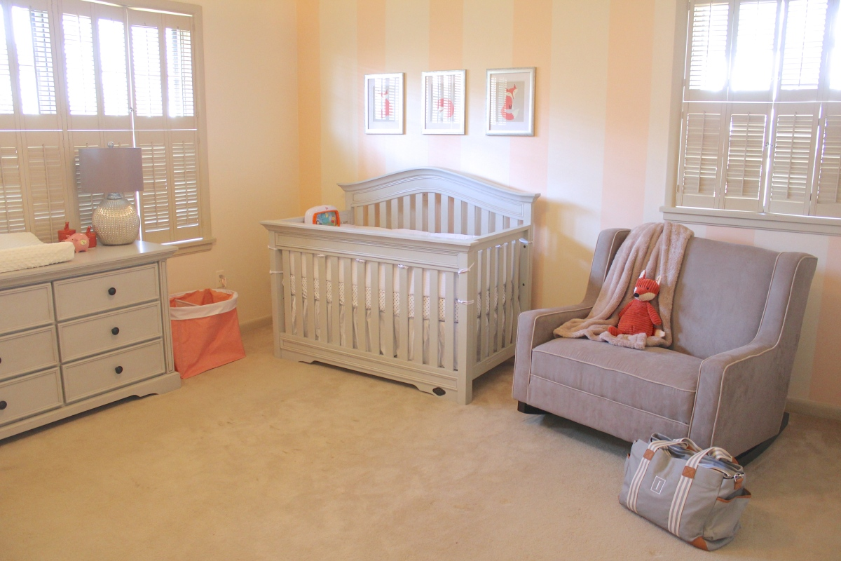 The Nest Revealed: Peach & Gray Fox Nursery for Our Baby Girl