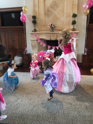 Dancing the Princess Pokey.